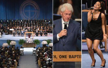 A Detroit i funerali di Aretha Franklin