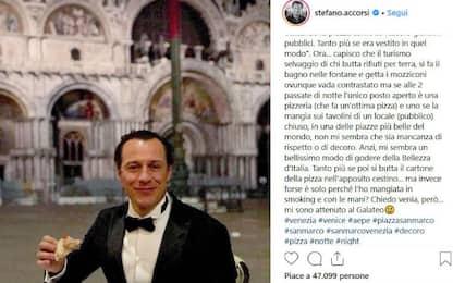Accorsi, la pizza a Venezia in Piazza S.Marco scatena la polemica