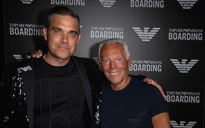 Milano Fashion Week, Armani a Linate decolla con Robbie Williams