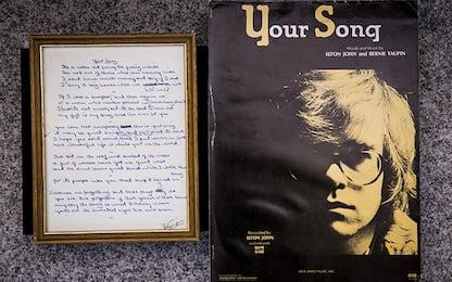 """Elton John, asta manoscritto """"Your Song"""""""