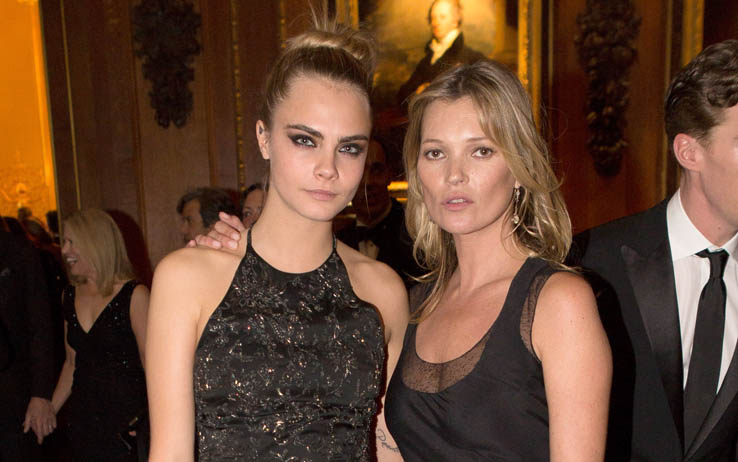 Kate Moss con Cara Delevingne - Getty Images