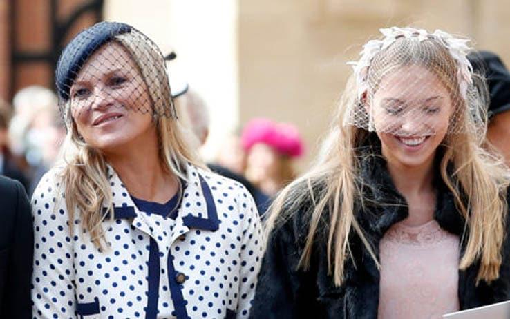 Kate Moss con la figlia al matrimonio di Eugenia di York - Getty Images