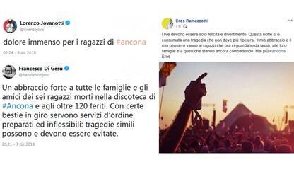 """Tragedia Corinaldo, da Jovanotti a Benji e Fede: """"Un dolore immenso"""""""