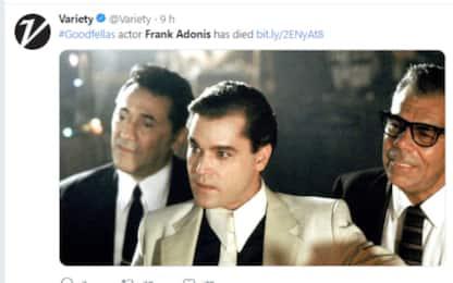È morto l'attore Usa Frank Adonis, scelto da Scorsese per film cult
