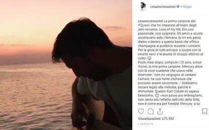 "Cesare Cremonini omaggia i Queen su Instagram con ""Love of my life"""