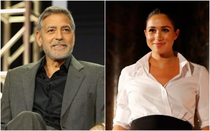 "George Clooney difende Meghan Markle: ""Assediata dai media come Diana"""