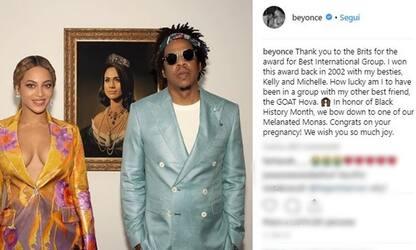 Brit Awards 2019: Beyoncé e Jay-Z in posa davanti a ritratto di Meghan