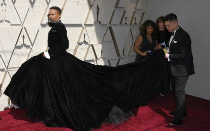 Oscar 2019, Billy Porter indossa un abito da uomo con gonna