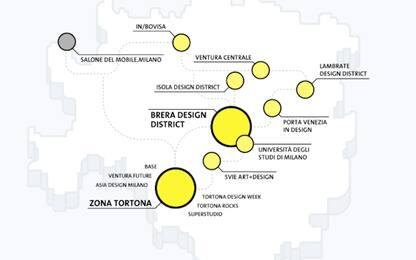 Fuorisalone 2019: la mappa degli eventi con i vari distretti