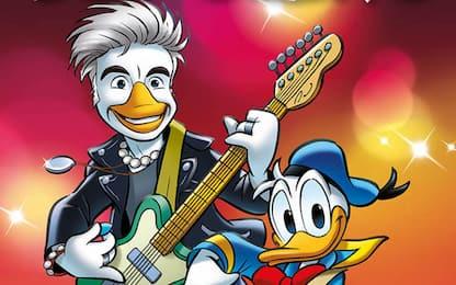 Ligabue sulla copertina di Topolino: il cantante diventa Liga Duck