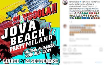 Jovanotti annuncia l'ultima tappa del Beach Party: sarà a Linate