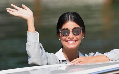 Venezia, la madrina Alessandra Mastronardi sbarca al Lido