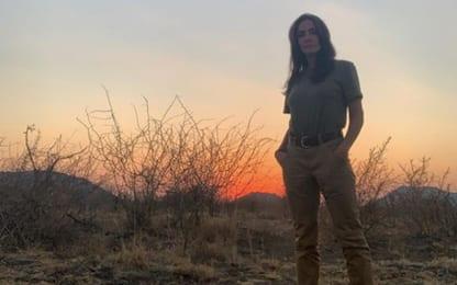 """Ambra Angiolini torna su Instagram e scherza: """"Avevo finito i giga"""""""