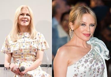 Kylie Minogue e Nicole Kidman in visita alla Galleria degli Uffizi