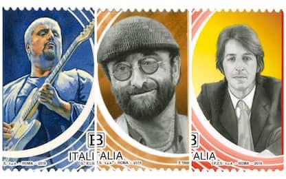 Francobolli dedicati a Dalla, Gaber e Pino Daniele