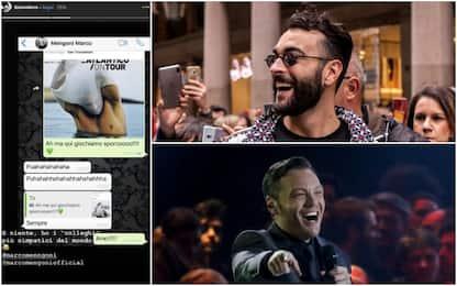 Tiziano Ferro condivide su Instagram una chat privata con Mengoni