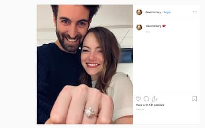 Emma Stone, ecco l'anello di fidanzamento con Dave McCary