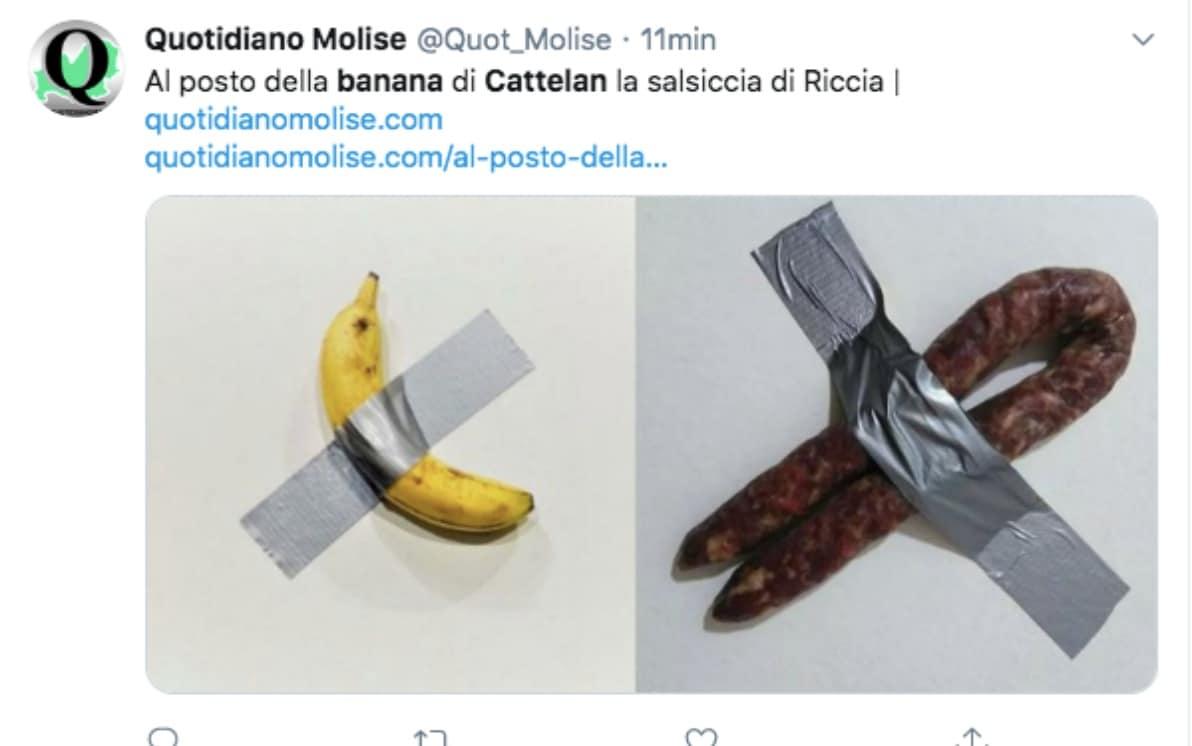 Banana di Cattelan, i meme più divertenti sui social. FOTO