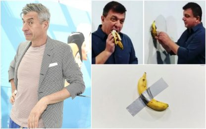"Cattelan: ""Banana mangiata da Datuna? Non mi importa, conta l'idea"""