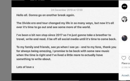 Ed Sheeran si prende una pausa da tour e social