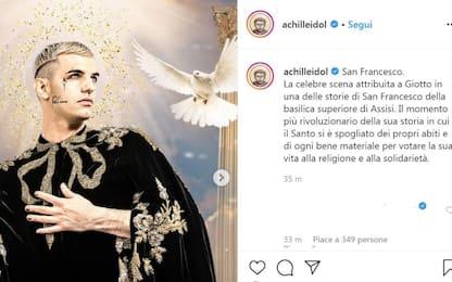 Sanremo 2020, Achille Lauro come San Francesco: il post su Instagram