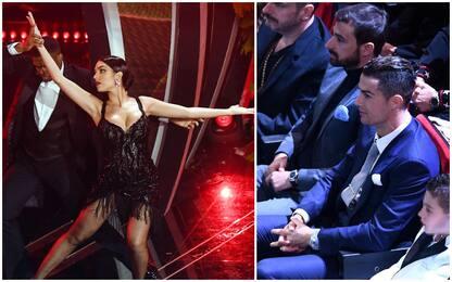Sanremo 2020, Georgina Rodriguez incanta. Cr7 in sala. FOTO