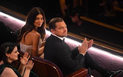 Camila Morrone e Leonardo DiCaprio agli Oscar 2020. FOTO