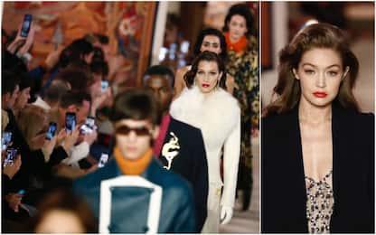 Parigi Fashion Week 2020, Bella e Gigi Hadid in Lanvin. FOTO