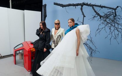 Parigi Fashion Week, per Off White sfila Yolanda Hadid. FOTO