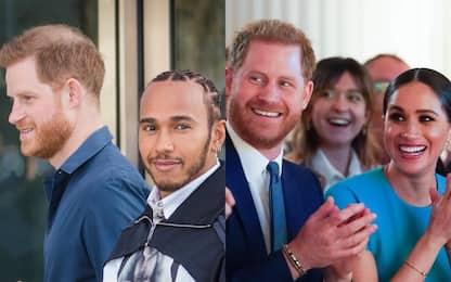 Harry con Hamilton a Silverstone e con Meghan a Londra. FOTO
