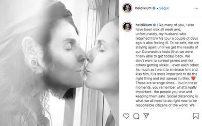 Coronavirus, Heidi Klum attende test: baci al marito dal vetro. VIDEO
