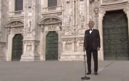 Il concerto di Pasqua di Bocelli nel Duomo di Milano. FOTO