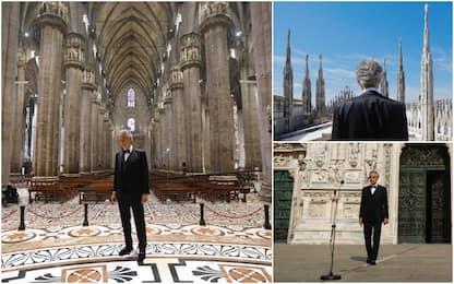 Bocelli e la potenza del Duomo vuoto: 25 milioni di visualizzazioni