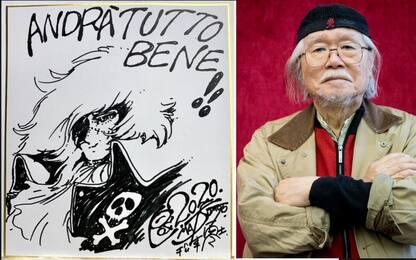 Coronavirus, Matsumoto disegna Capitan Harlock per le Molinette