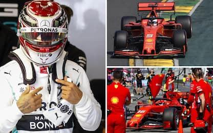 Formula 1, prima pole della stagione a Hamilton. Vettel è terzo