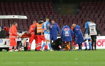 Napoli-Udinese, paura Ospina: portiere s'accascia ed esce in barella