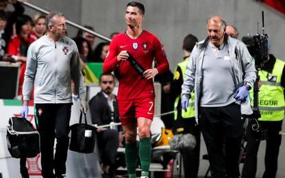 Ansia per Cristiano Ronaldo: infortunio muscolare in Portogallo-Serbia