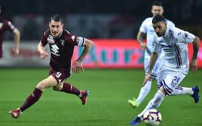 Serie A, Torino-Sampdoria 2-1: gol e highlights