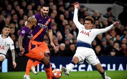 Champions League, Tottenham-Manchester City 1-0: gol e highlights
