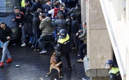Scontri ad Amsterdam prima di Ajax-Juventus. FOTO