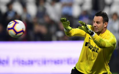 Inter, infrazione al mignolo per Handanovic: derby a rischio