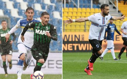 Serie A, Parma-Sampdoria 3-3, Sassuolo-Frosinone 2-2: gol e highlights