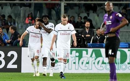 Serie A, Fiorentina-Milan 0-1: gol e highlights