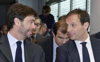 """Agnelli: """"Allegri in storia Juve"""". Il tecnico: """"Fisiologico lasciarsi"""""""
