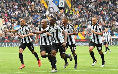 Serie A, Udinese-Spal 3-2: gol e highlights