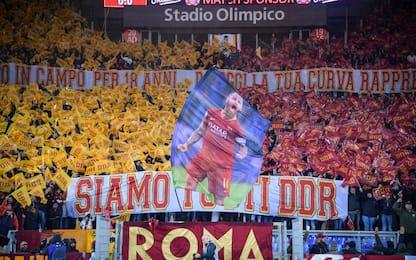 De Rossi dà l'addio alla Roma: il tributo dell'Olimpico