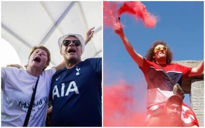 Champions League, i tifosi di Tottenham e Liverpool a Madrid