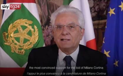 """Olimpiadi 2026, Mattarella: """"In Italia sarete tutti a casa"""""""