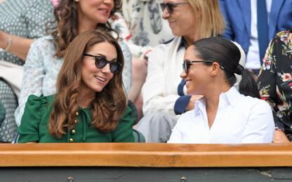 Wimbledon, Meghan e Kate assistono alla finale femminile