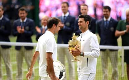 Djokovic trionfa a Wimbledon, Federer battuto in 5 set. FOTO